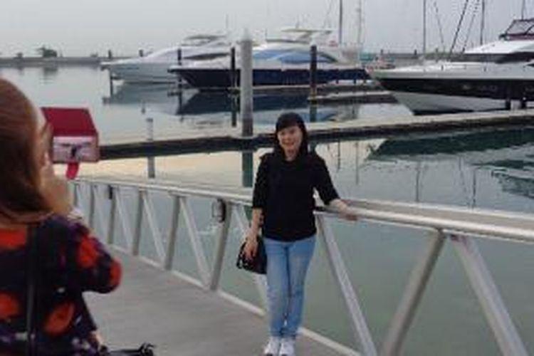Kawasan Nongsa Point Marina and Resort di Batam, Kepulauan Riau.