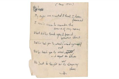 Kisah Lirik Lagu Tulisan Tangan Bob Dylan yang Laku Rp 1,5 Miliar
