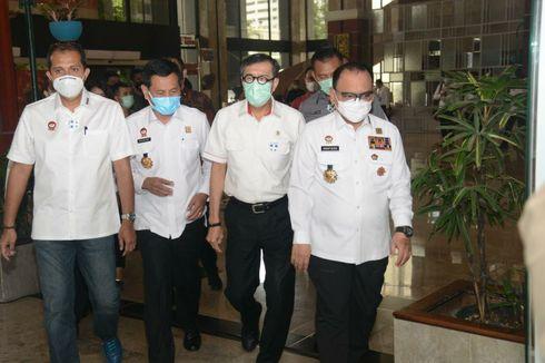 Menkumham dan Wamenkumham Cek Langsung Lokasi Kebakaran Lapas Tangerang