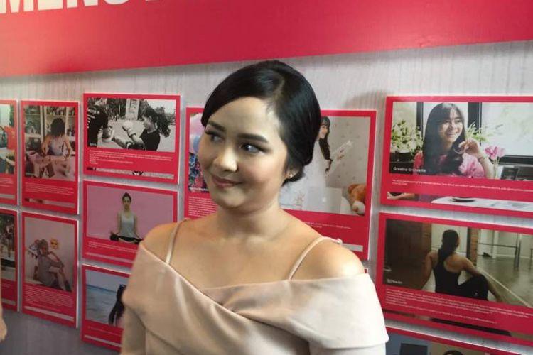 Gita Gutawa diabadikan di Hotel Veranda, Kebayoran Lama, Jakarta Selatan, Kamis (27/4/2017).