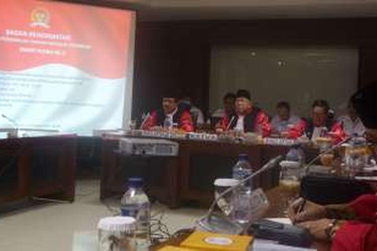 Suasana rapat pleno Badan Kehormatan DPD, Senayan, Jakarta, Senin (19/9/2016) malam