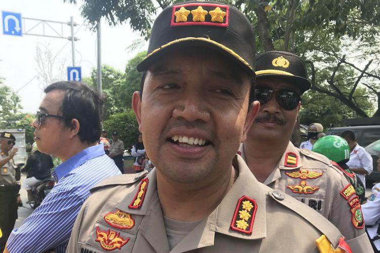 Kapolres Metro Jakarta Utara Kombes Budhi Herdi Susianto mengatakan, pihaknya membentuk grup Whatsapp bersama masyarakat guna mencegah tawuran di Jakarta Utara. Foto diambil Rabu (15/5/2019).