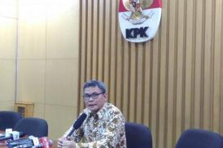 Pimpinan sementara KPK Johan Budi