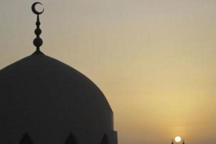 Kubah masjid.
