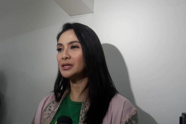 Maudy Koesnaedi saat ditemui usai theater visit di Margo City, Depok, Jawa Barat, Jumat (7/6/2019).
