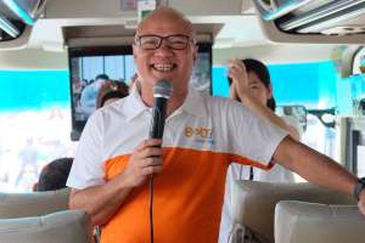 Chief Executive Officer PT Internux (Bolt) Dicky Moechtar memberikan keterangan dalam acara media gathering di Jakarta, Rabu (3/2/2016)