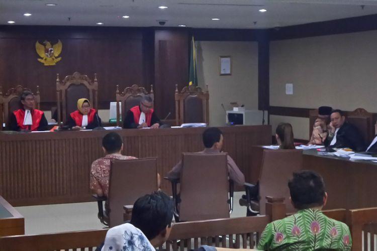 Persidangan kasus korupsi dengan terdakwa Gubernur nonaktif Sulawesi Tenggara Nur Alam di Pengadilan Tipikor Jakarta, Rabu (24/1/2018).