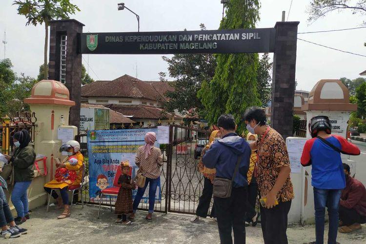 Kantor Disdukcapil Kabupaten Magelang, Senin (14/6/2021)
