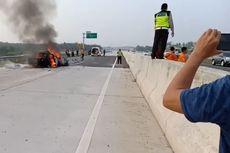 Tabrakan di Tol Sumatera, Sedan Terbakar, 4 Tewas