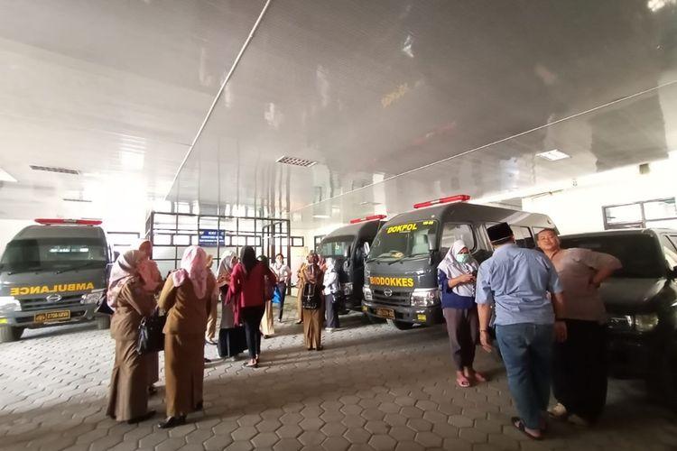 Suasana Rumah Sakit Bhayangkara, Kota Bengkulu, tempat jasad Wina diautopsi