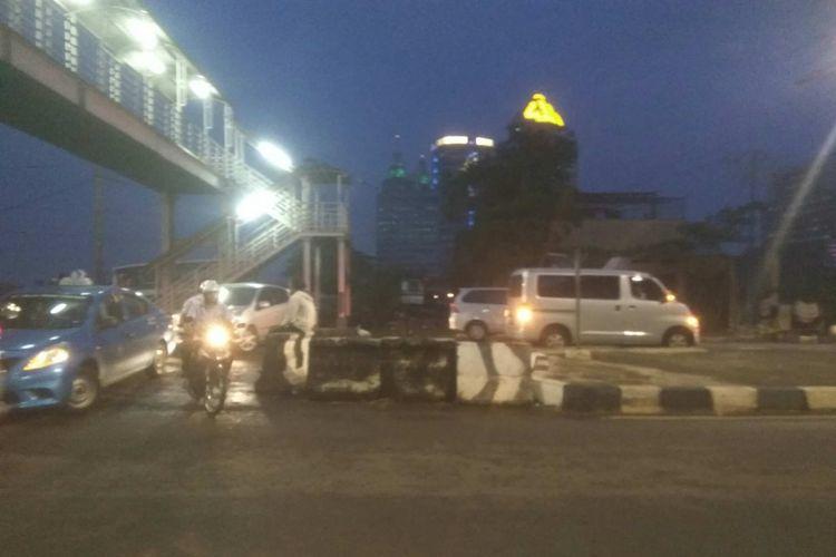 Kemacetan di Jalan Pangeran Antasari, Rabu (27/9/2017).