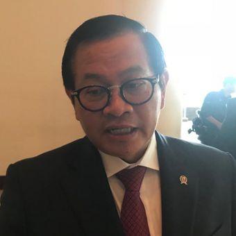 Sekretaris Kabinet Pramono Anung saat ditemui usai sebuah acara di Hotel Grand Hyatt, Jakarta Pusat, Rabu (28/11/2018).