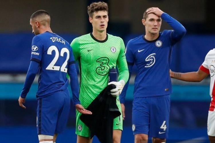 Kepa Arrizabalaga tampil sebagai starter dan melakukan blunder pada laga lanjutan Liga Inggris kontra Southampton pada Sabtu (17/10/2020).