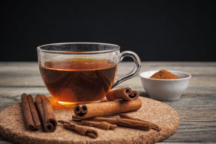 Ilustrasi teh kayu manis
