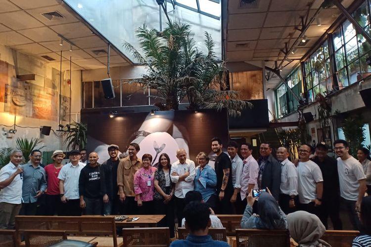 Para kolaborator dalam event Kopi Penyangga Bumi. Meliputi BUMN Peruri, M Bloc Space Creative Hub, juga para pemilik bisnis kopi serta petani kopi