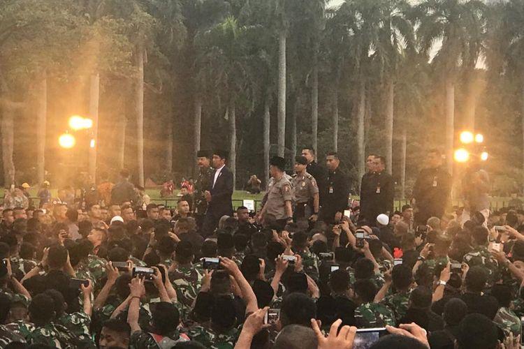 Panglima TNI Marsekal Hadi Tjahjanto di Lapangan Monas, Jakarta Pusat, Kamis (16/5/2019).