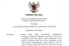 UMK Jawa Timur 2020 Disahkan, Tertinggi Rp 4,2 Juta, Terendah Rp 1,9 Juta