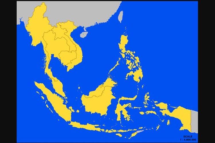 Peta negara-negara ASEAN. Terjadinya interaksi antarnegara-negara ASEAN berupa kerja sama dipengaruhi faktor pendorong dan penghambat kerja sama.