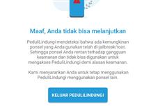 Eror Aplikasi PeduliLindungi Deteksi Ponsel Telah Di-Jailbreak/Root, Ini Kata Kominfo