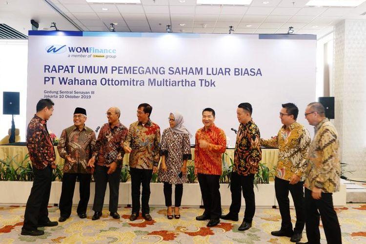 Rapat Umum Pemegang Saham Luar Biasa (RUPSLB) WOM Finance di Jakarta.