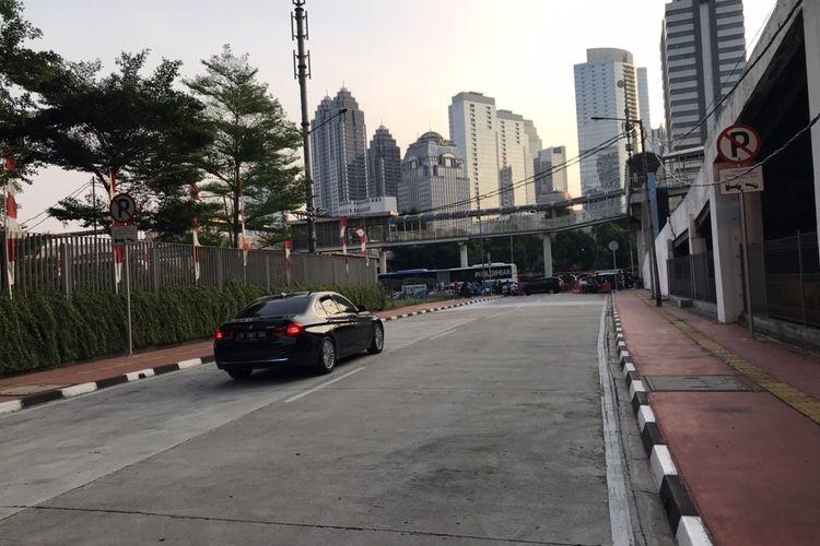 Jalan Tembus Garnisun ke Jalan Raya Gatot Soebroto kini bisa dilewati pengendara bermotor mulai Senin (31/8/2020).