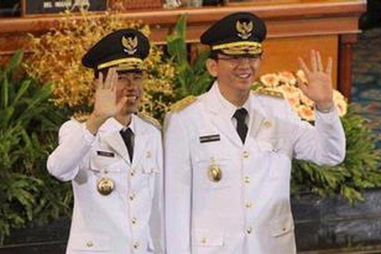 Gubernur DKI Jakarta, Joko Widodo (Jokowi) dan Wakil Gubernur DKI Jakarta, Basuki Tjahja Purnama.