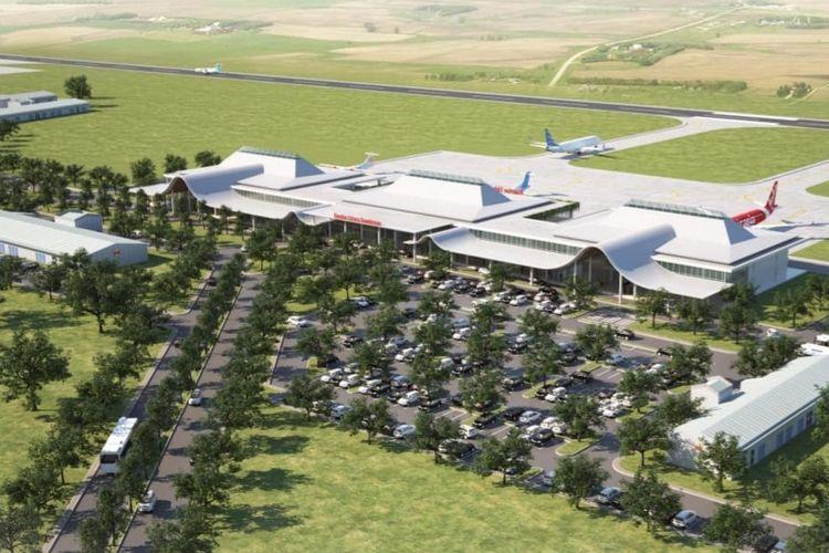 Konsep desain terminal Bandara Jenderal Besar Soedirman yang diajukan terinspirasi Gunung Slamet dan Sungai Serayu.