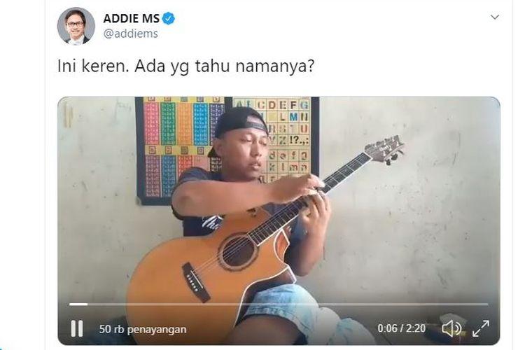 Musisi Addie MS mencari Alip, pria yang memliki bakat luar biasa bermain gitar.