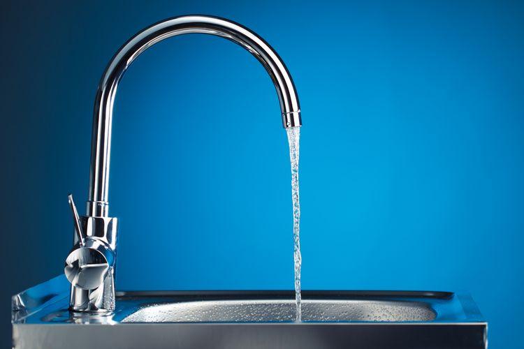 Ilustrasi keran air, air