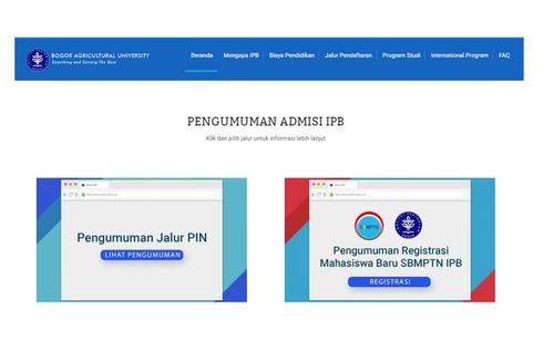 Jadwal dan Cara Registrasi Mahasiswa IPB dari Jalur SBMPTN