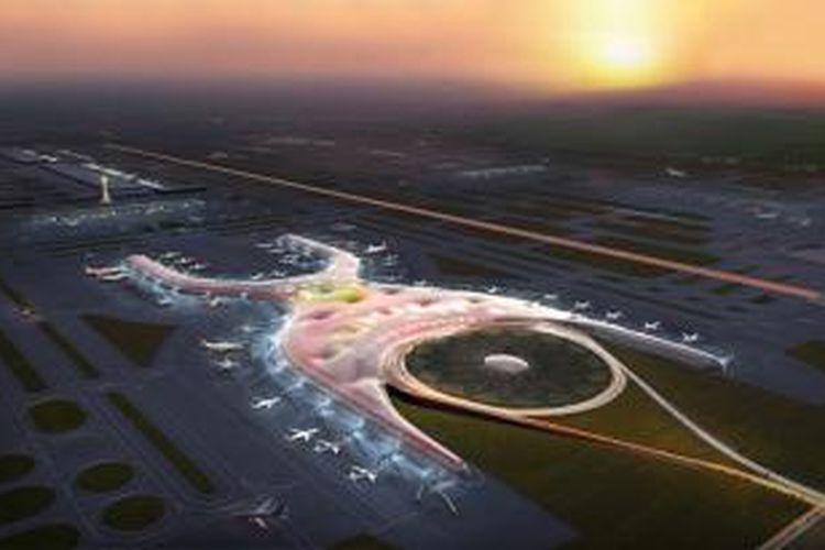 Bandara internasional Mexico City menjadi salah satu bandara terbesar di dunia. Selain luasnya yang mencapai 555.000 meter persegi, desain bandara ini juga ikut diubah secara besar-besaran.