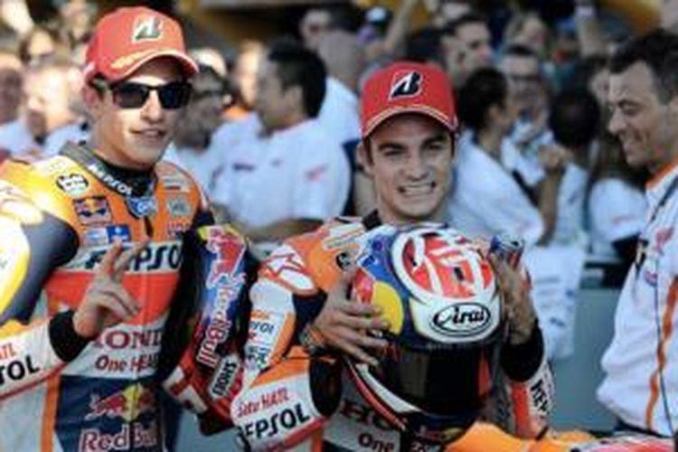 Pebalap Repsol Honda Marc Marquez dan Dani Pedrosa.