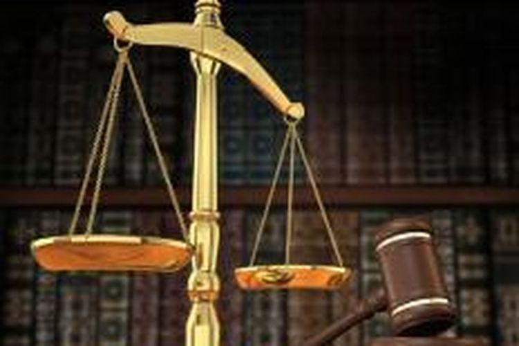 Ilustrasi timbangan hukum