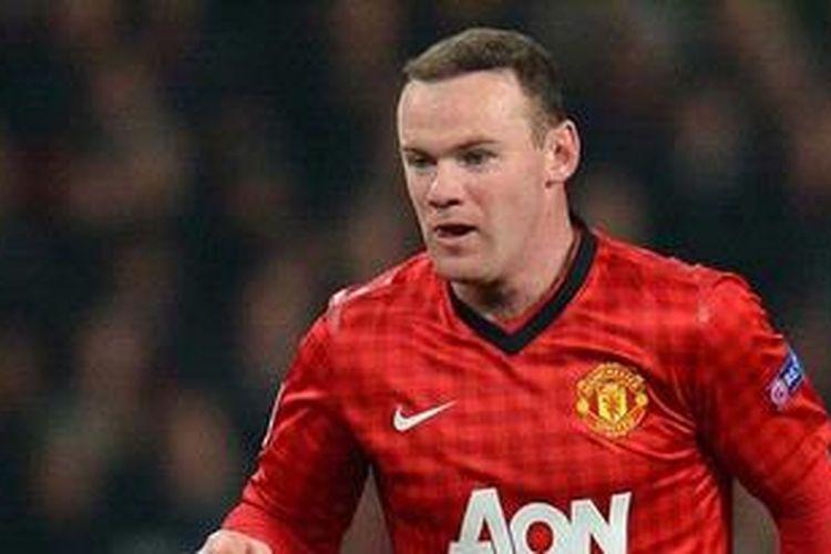 Penyerang Manchester United, Wayne Rooney.