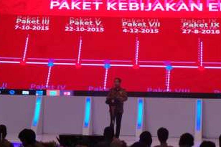 Presiden Jokowi saat membuka Kompas 100 CEO Forum di Jakarta. Kamis (24/11/2016).