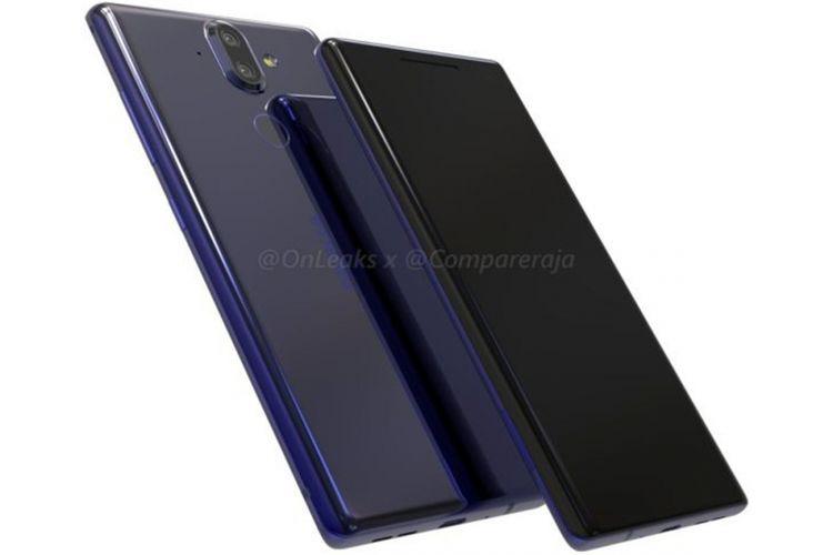 Rendering 3D Nokia 9, buatan Onleaks dan Compareraja.