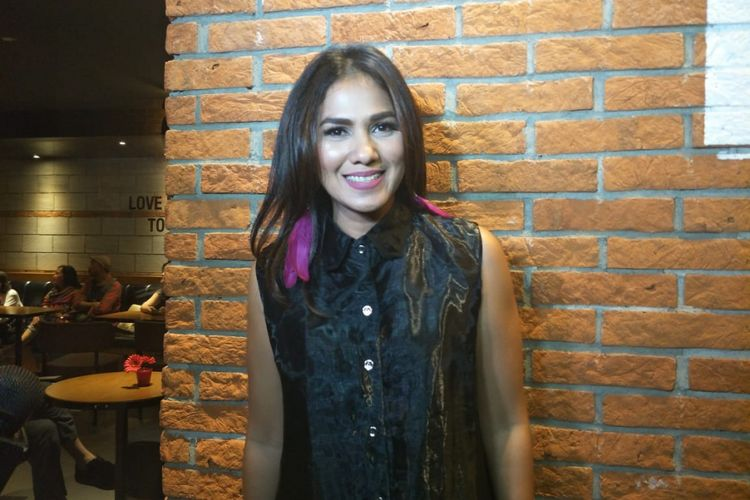 Nova Eliza saat ditemui dalam jumpa pers dan screening film Silam di CGV Grand Indonesia, Thamrin Jakarta Pusat, Selasa (4/12/2018).