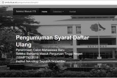Jadwal dan Cara Registrasi Mahasiswa ITS dari Jalur SBMPTN