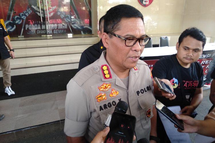 Kabid Humas Polda Metro Jaya Komisaris Besar Argo Yuwono di Mapolda Metro Jaya, Sabtu (29/6/2019)