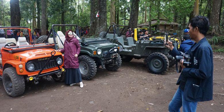 Lawu Tour di Mojosemi Forest Park, Kabupaten Magetan, Jawa Timur, Rabu (23/1/2019).