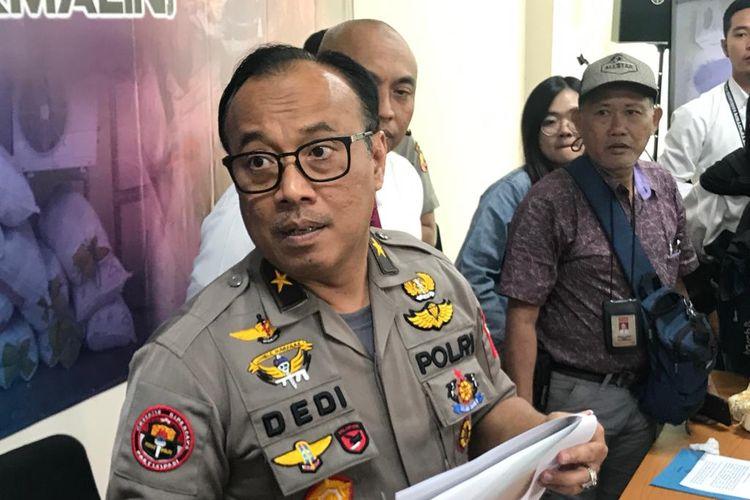 Kepala Biro Penerangan Masyarakat Divisi Humas Polri Brigjen (Pol) Dedi Prasetyo di Gedung Bareskrim Polri, Jakarta Selatan, Senin (16/9/2019).