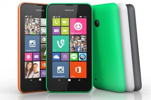 Nokia Rilis Lumia 530, Ponsel WP8 Rp 1 Jutaan