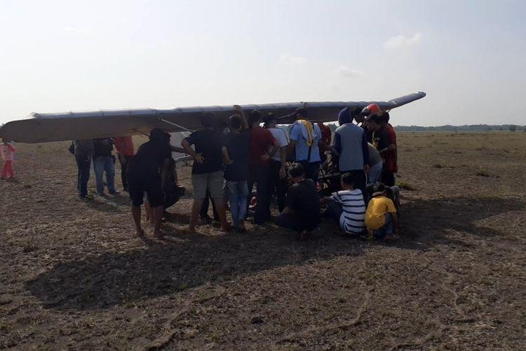Pesawat Chaerul Asal Pinrang Uji Coba Terbang