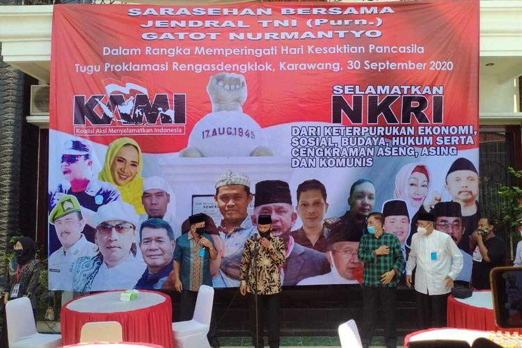 Diketahui, setelah acara di Rengasdengklok dibubarkan, acara KAMI dilanjutkan di rumah salah satu anggota KAMI, Daday Hudaya di Telukjambe, Karawang.
