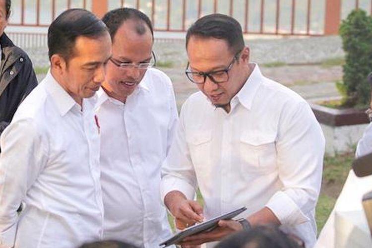 Kunjungan Presiden Joko Widodo ke Danau Toba.