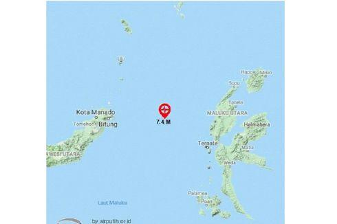 Halmahera, Ternate dan Bitung Waspada Tsunami Pascagempa Magnitudo 7,1