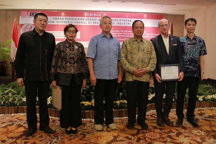 Seminar Politeknik Jakarta Internasional di Hotel Borobudur, Jakarta, Jumat (4/10/2019).
