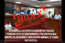 [HOAKS] Video Pengangkatan PNS bagi Honorer, PPPK, dan Pegawai Non-PNS