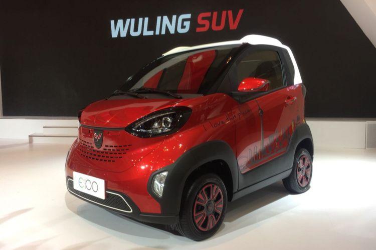 Mobil listrik Wuling E100 di GIIAS 2018.