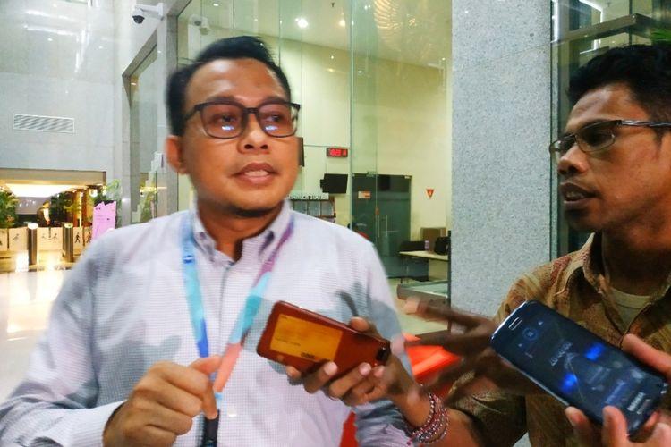 Plt Jubir KPK Ali Fikri di Gedung Merah Putih KPK, Senin (10/2/2020).